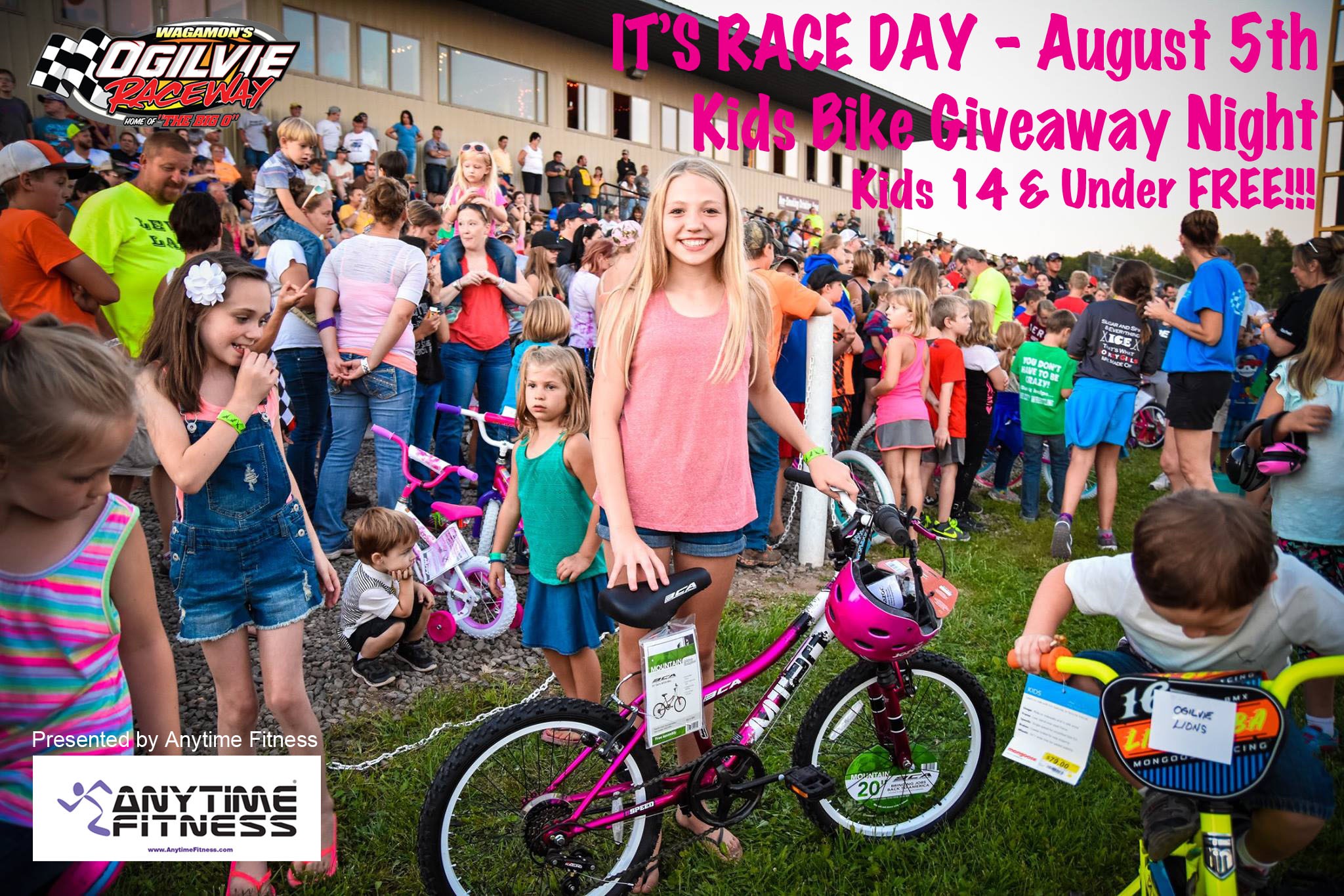 Kids Night / Bike Giveaway Night – August 5th presented by Anytime Fitness