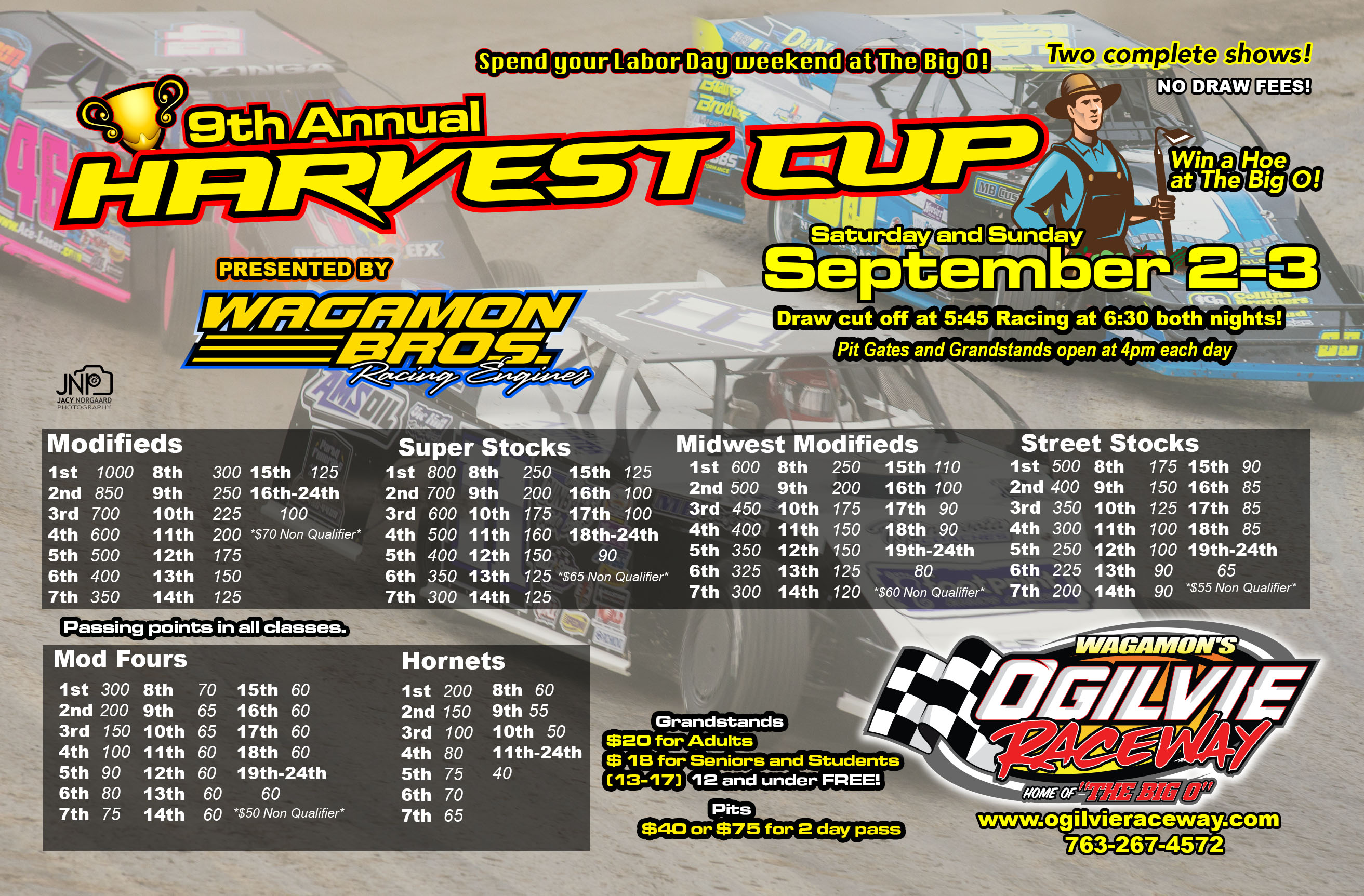 Labor Day Weekend the 9th Annual Harvest Cup – FREE Camping!!!