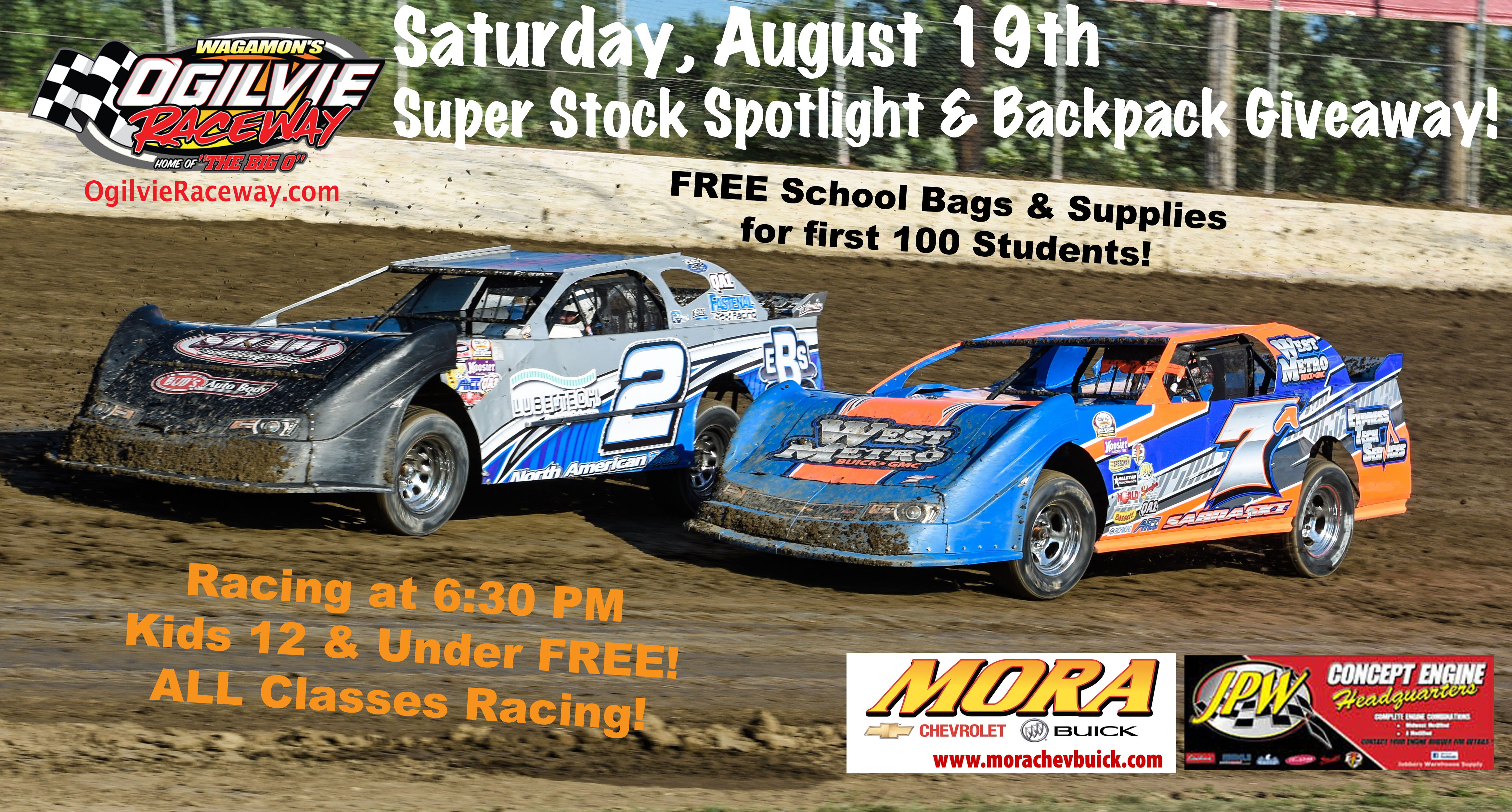 Backpack Giveaway & Spotlight on the Super Stocks this Saturday, August 19th!