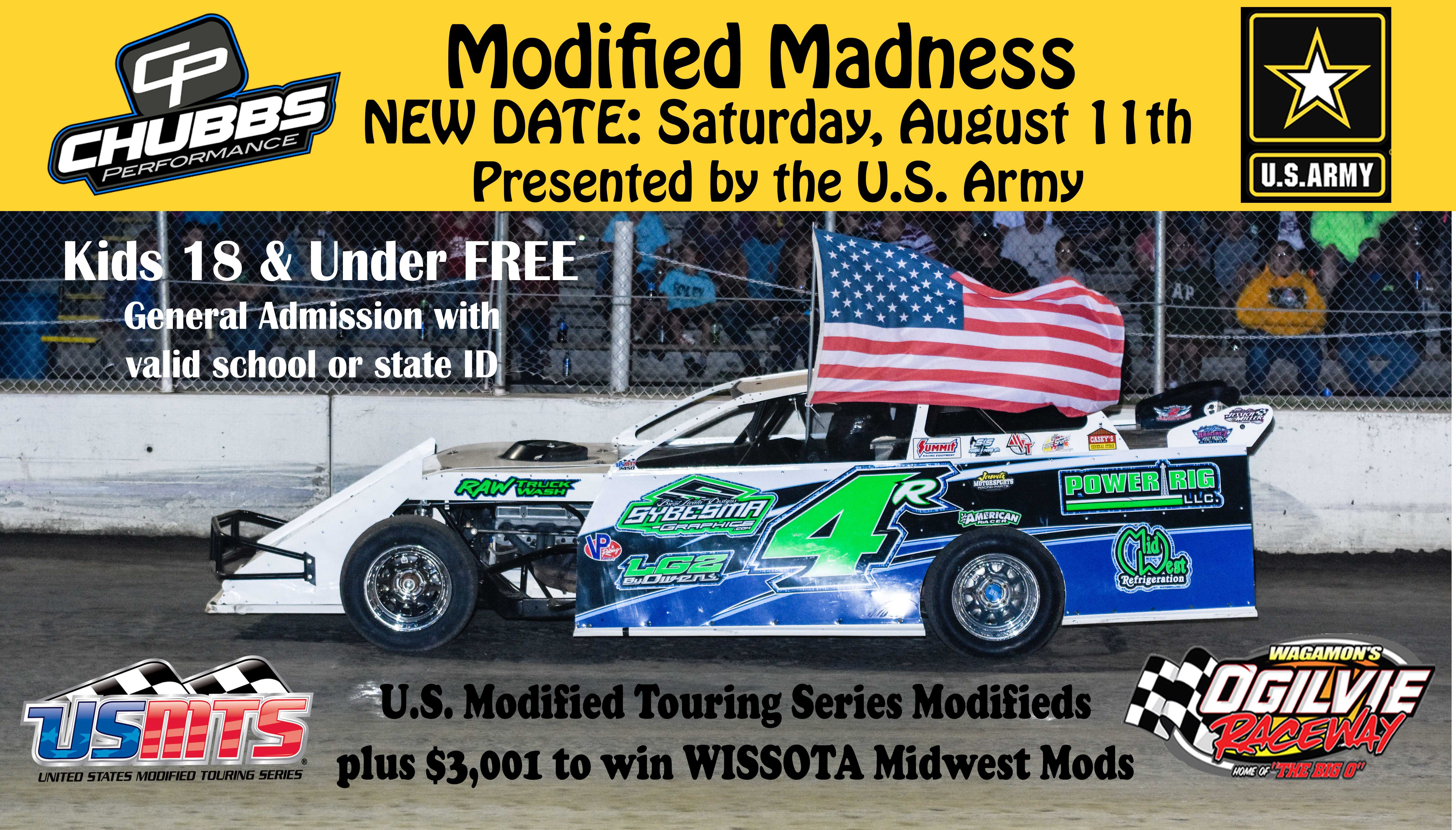 NO RACING May 19th – USMTS Chubbs Performance Mod Madness Rescheduled for August 11th