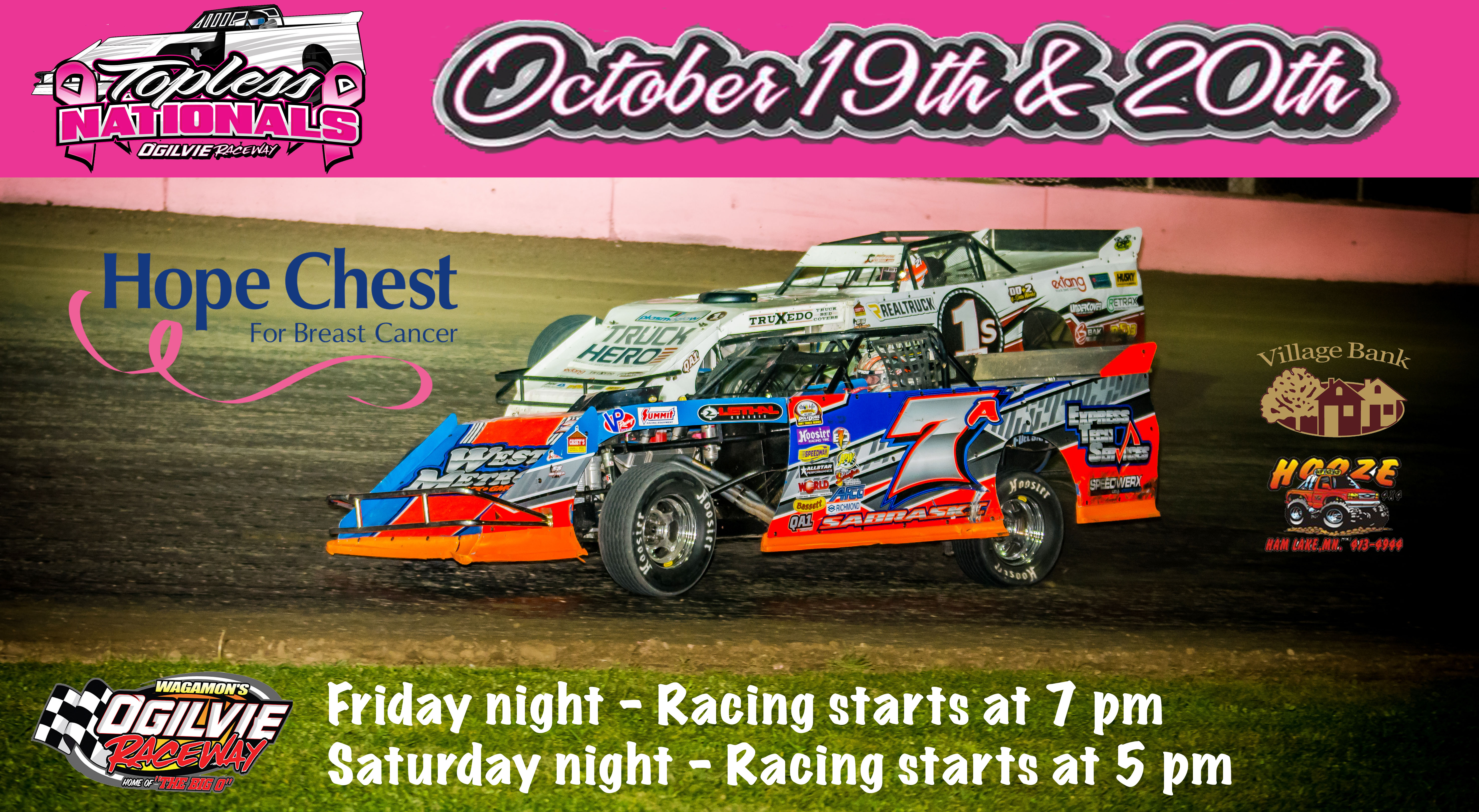 Topless Nationals – Friday and Saturday, October 19th and 20th