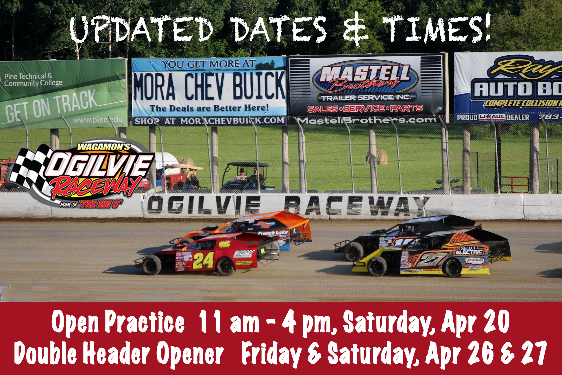 Double Header Season Opener – Friday & Saturday, April 26 and 27