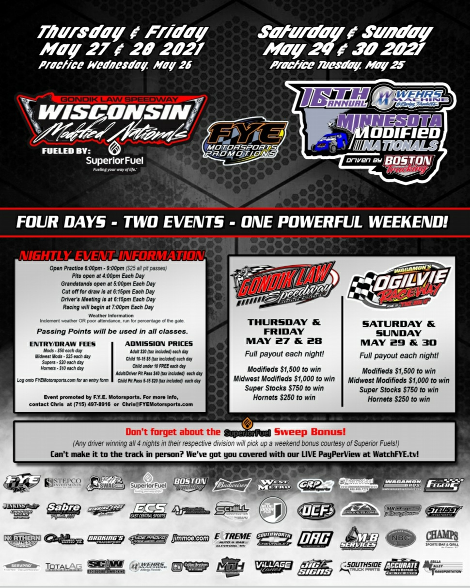 Mod Nationals Info – May 29th & 30th