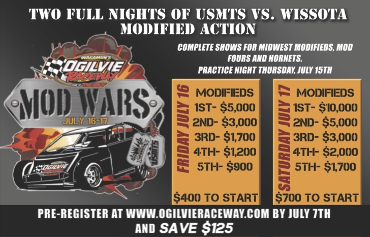 Mod Wars – $10K to Win Saturday and $5K to Win Friday Night