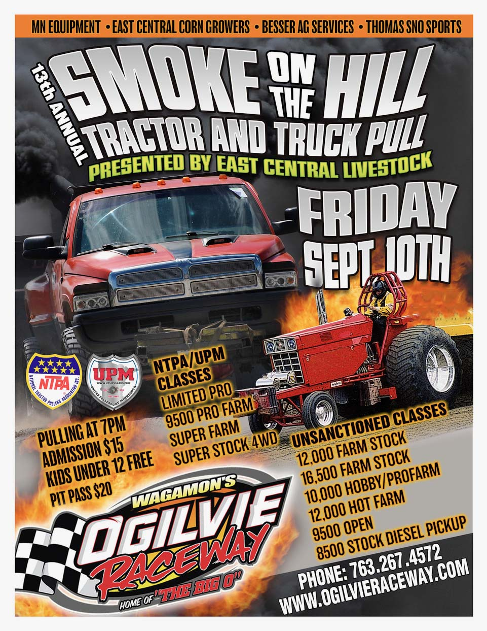 Truck and Tractor Pull RESCHEDULED to Sept. 10th